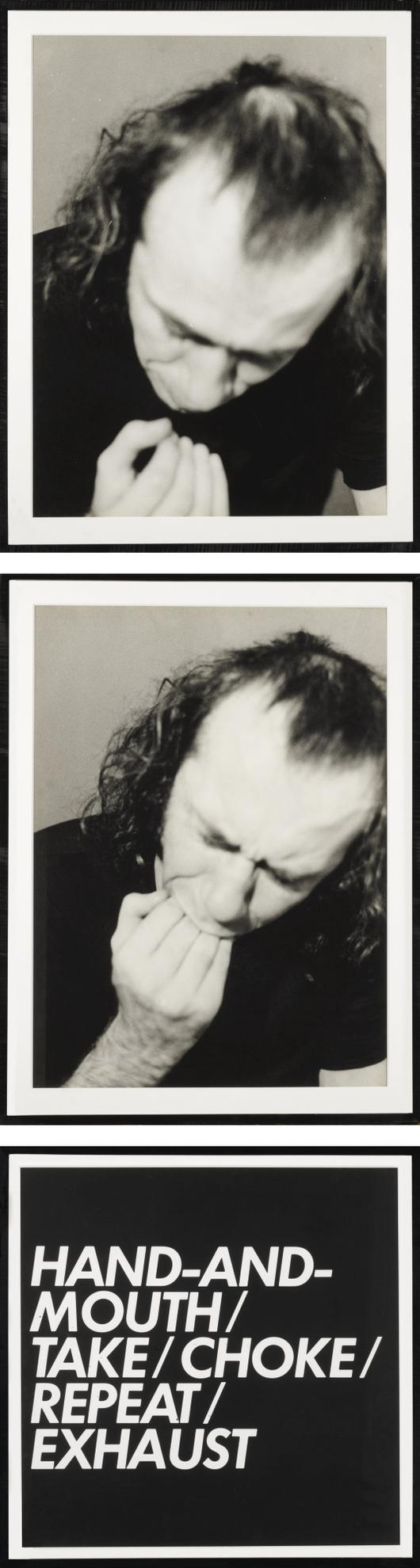Vito Acconci-Hand & Mouth (Film Stills & Text)-1970