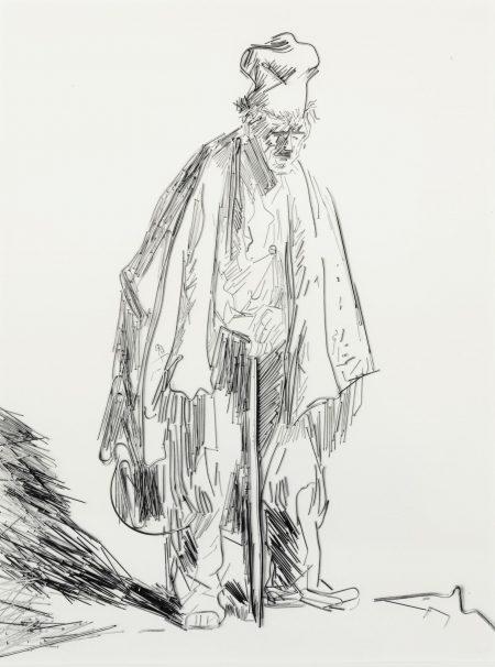 Vik Muniz-Beggars #1 (From Beggars After Rembrandt)-2001