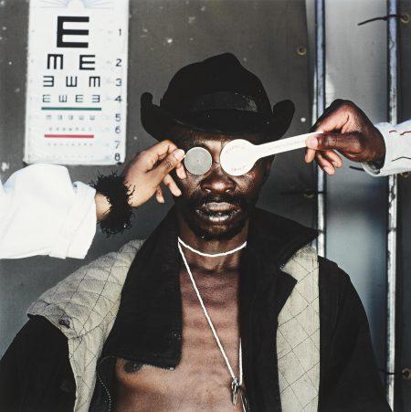 Mikhael Subotzky-Joseph Dlamini (Eye Test), Matsho Tsmombeni Squatter Camp, South Africa-2005