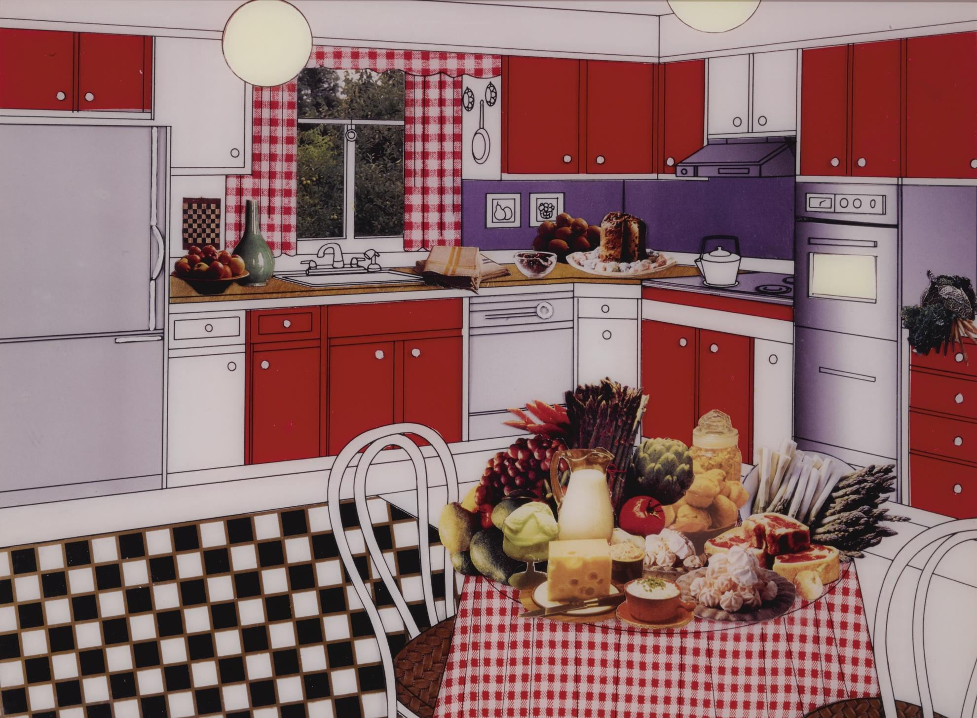 Laurie Simmons-The Instant Decorator (Red & White Kitchen)-2001