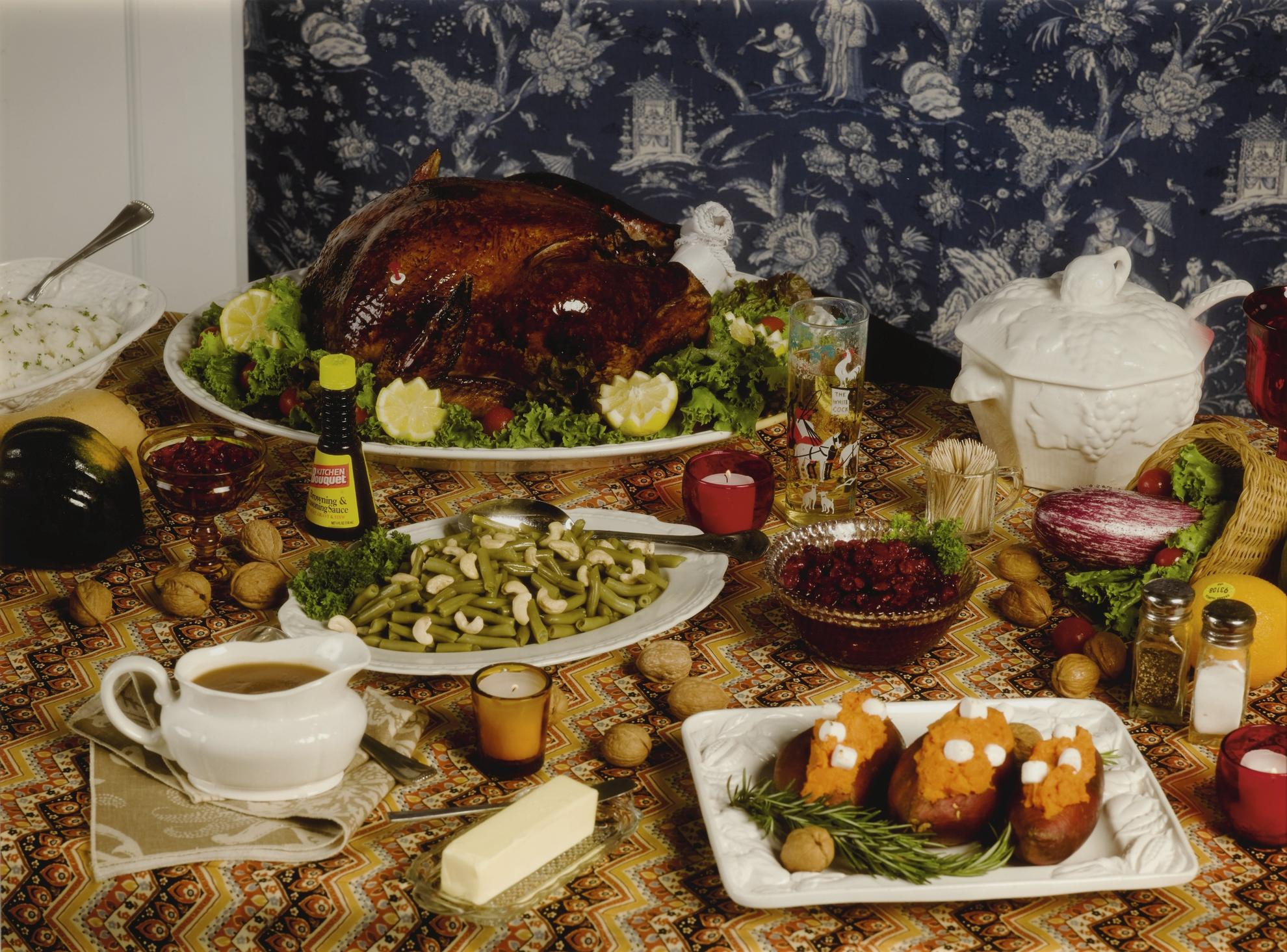 Roe Ethridge-Thanksgiving 1984 (Table)-2009