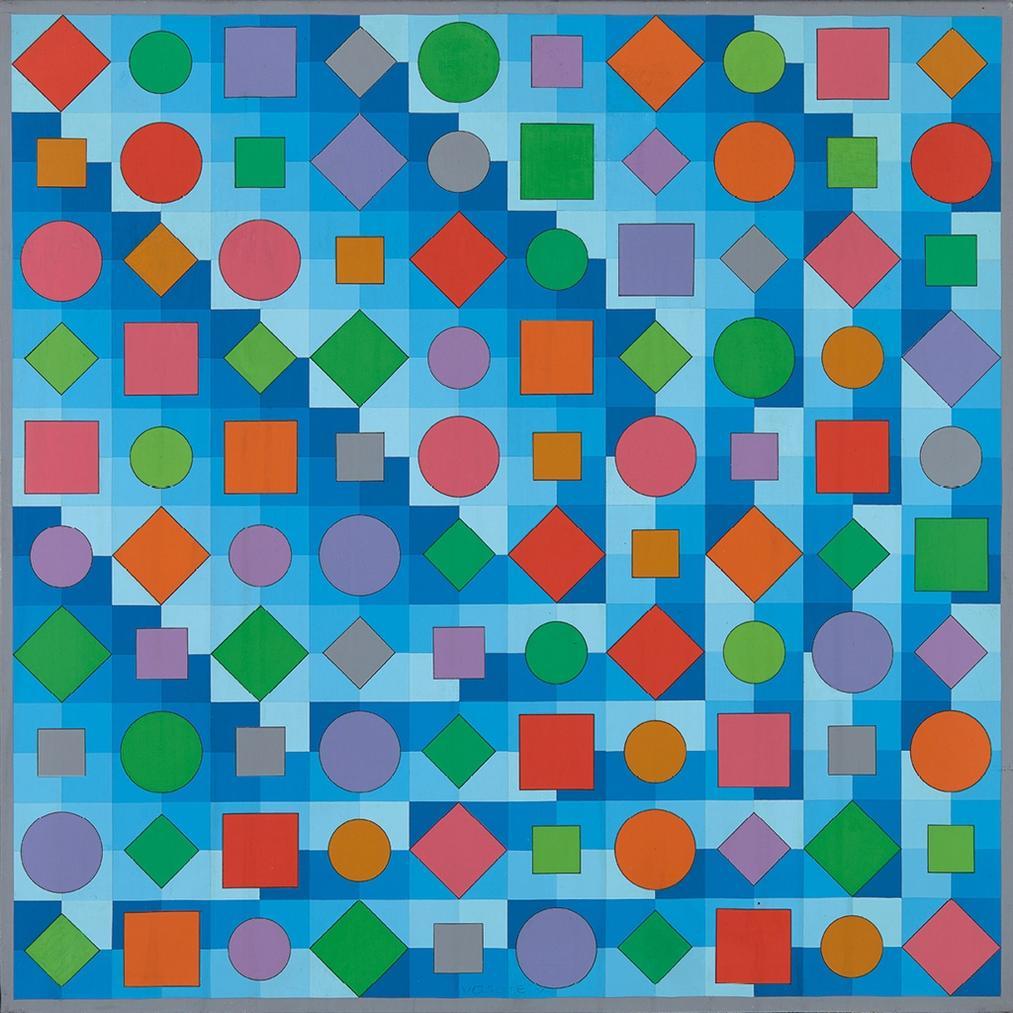 Victor Vasarely-Dinn - C-1988
