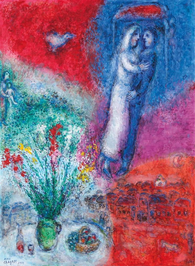 Marc Chagall-Les Maries-1979