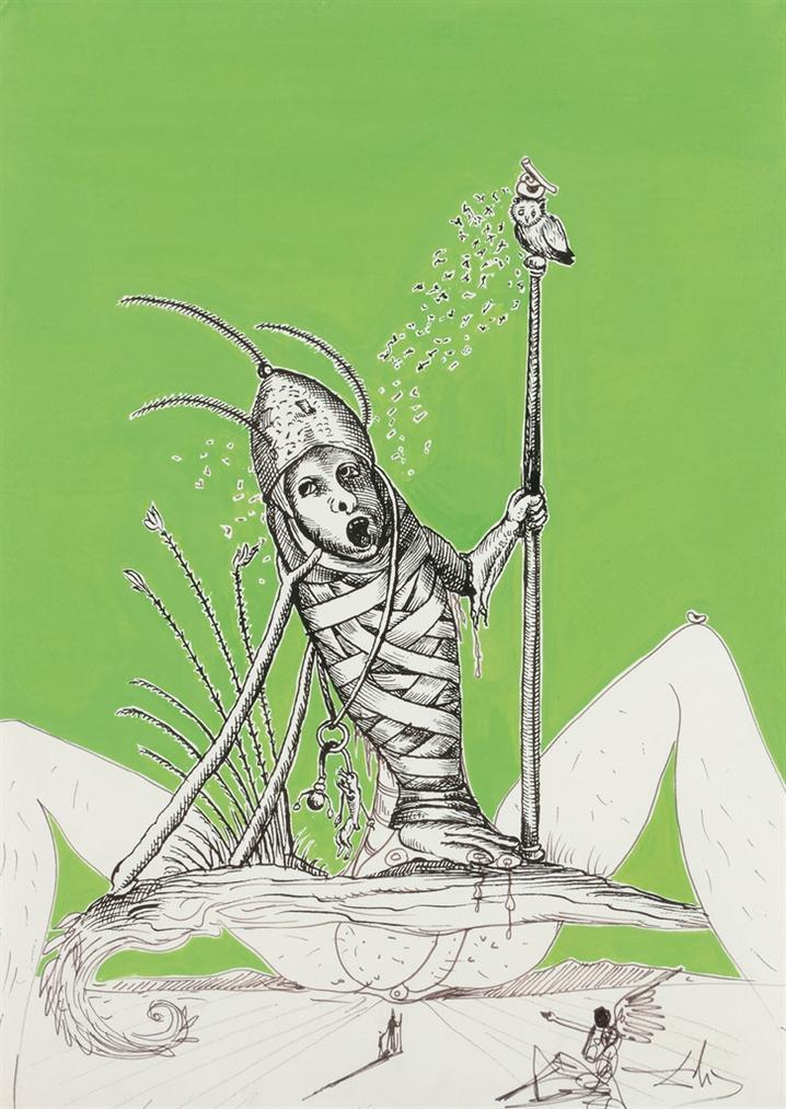 Salvador Dali-Sans Titre (Convalescence, Illustration Pour Pantagruel)-1972