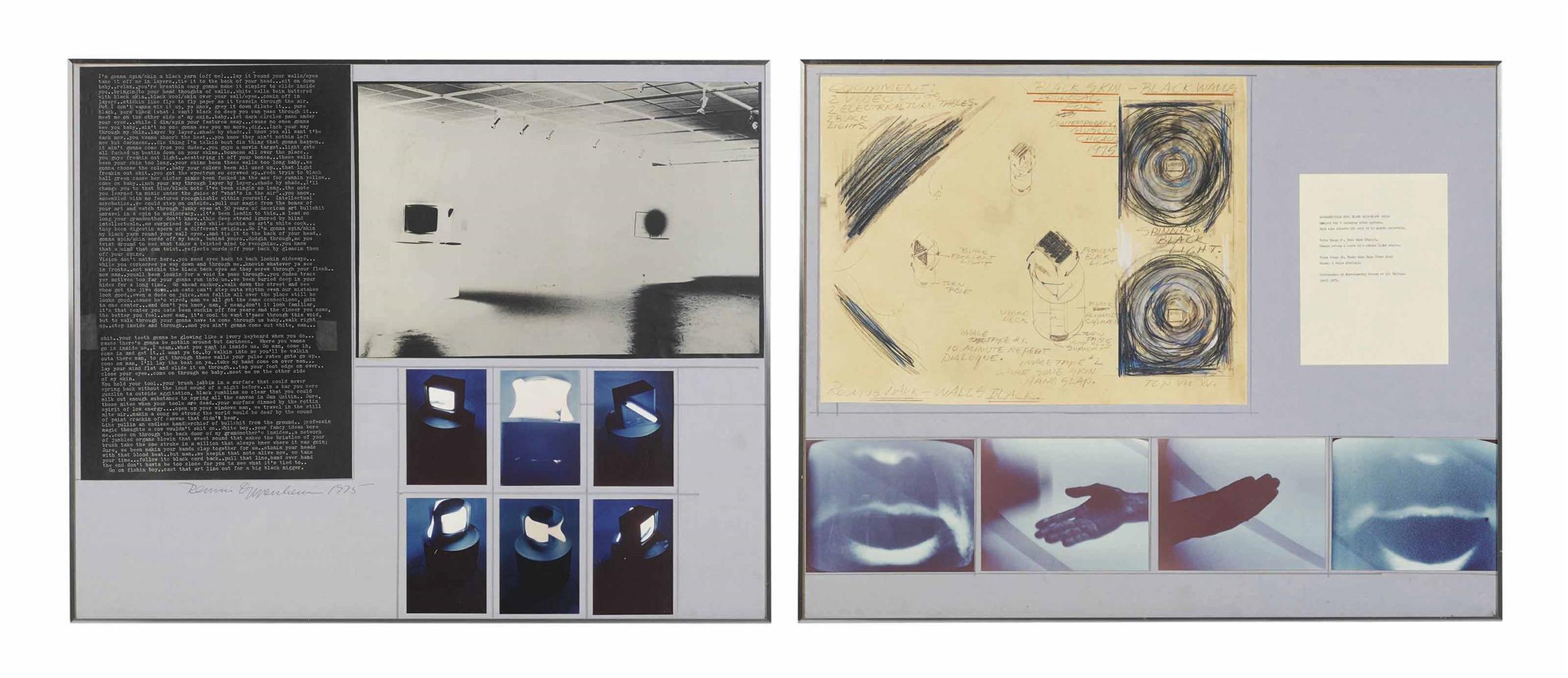 Dennis Oppenheim-Black Skin - Black Walls-1975
