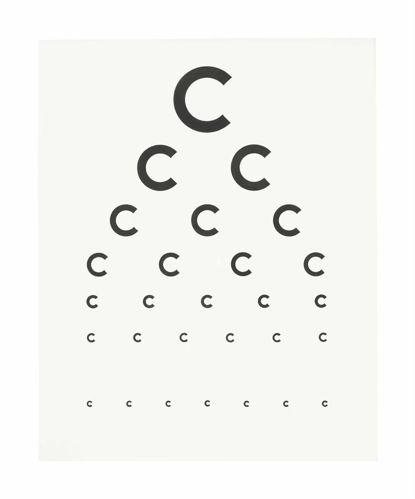 Tauba Auerbach-Eye Exam II-2005