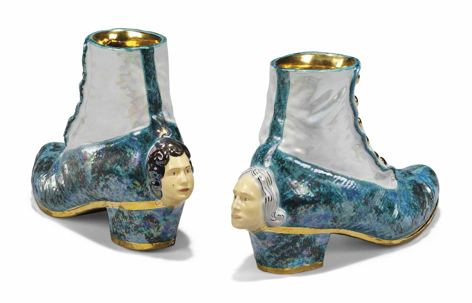 Luigi Ontani-Scarpaghetta (Shoe Spatter Guards)-2007