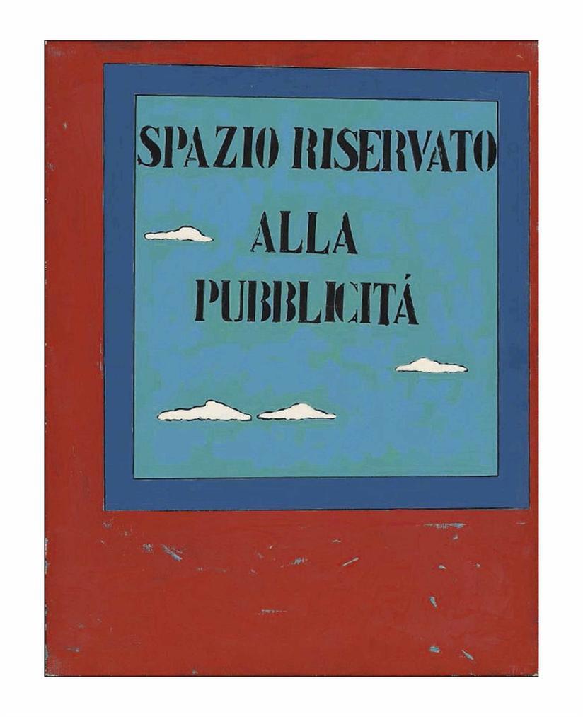 Tano Festa-Spazio Riservato Alla Pubblicita (Space Reserved For Advertising)-1970
