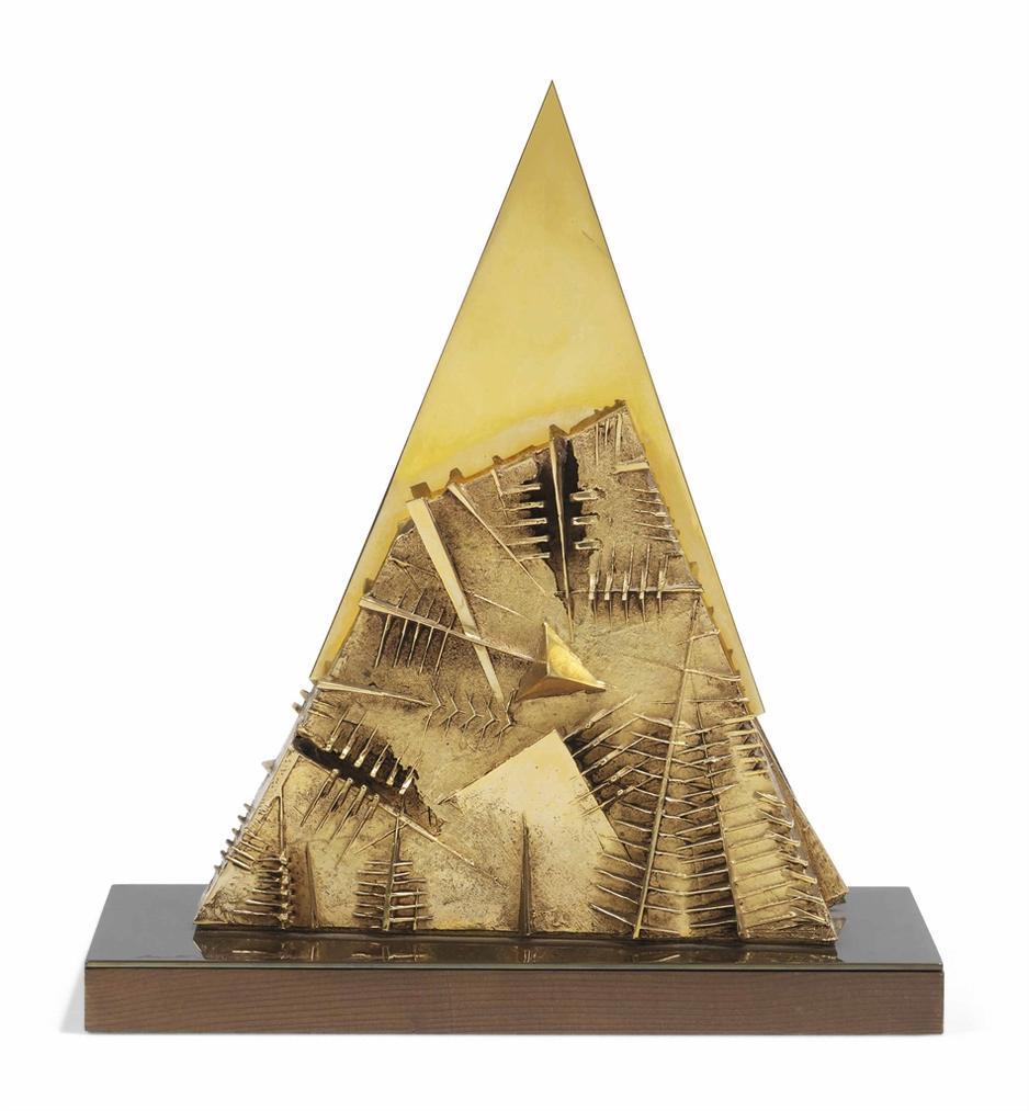 Arnaldo Pomodoro-Piramide (Pyramid)-1985