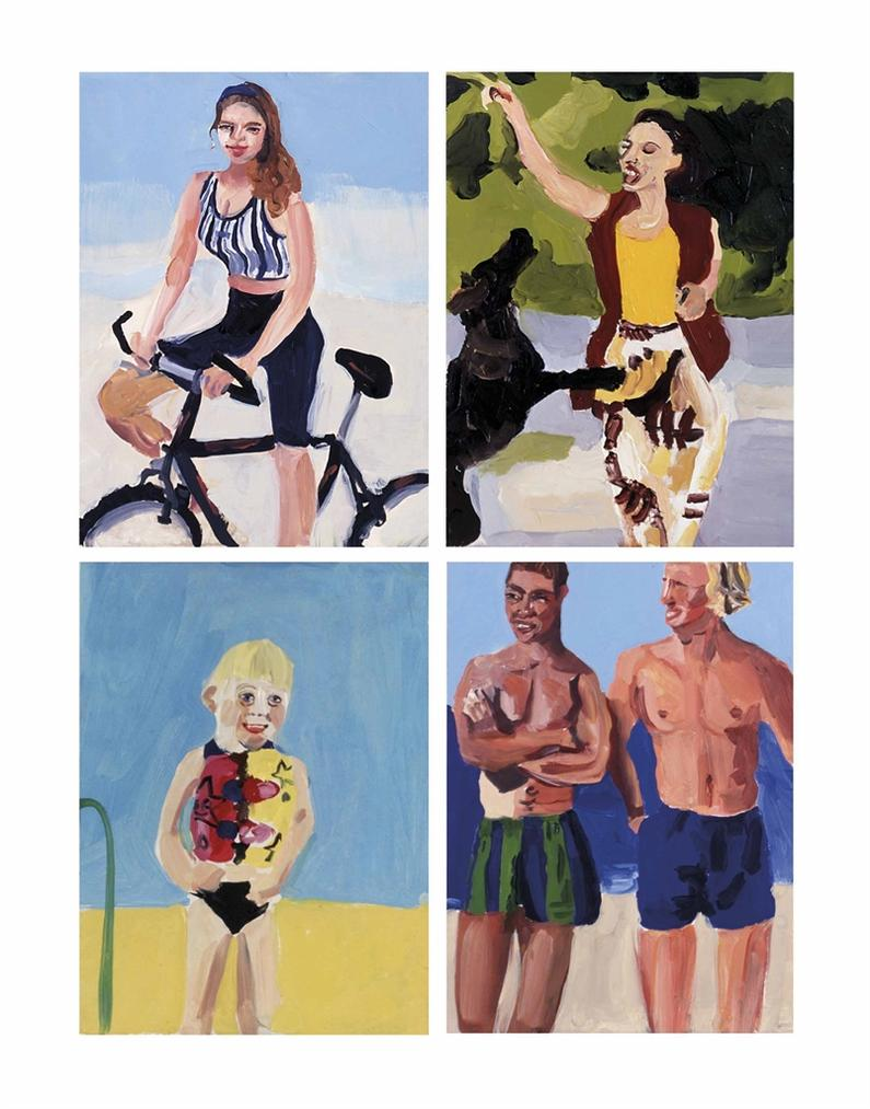 Chantal Joffe-(i) Untitled; (ii) Tobacco; (iii) Bubble Gum; (iv) Untitled-1995