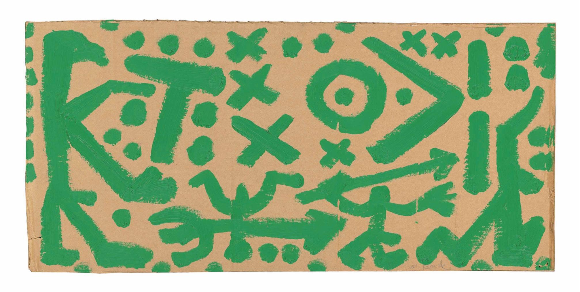 A.R. Penck-Untitled-1990