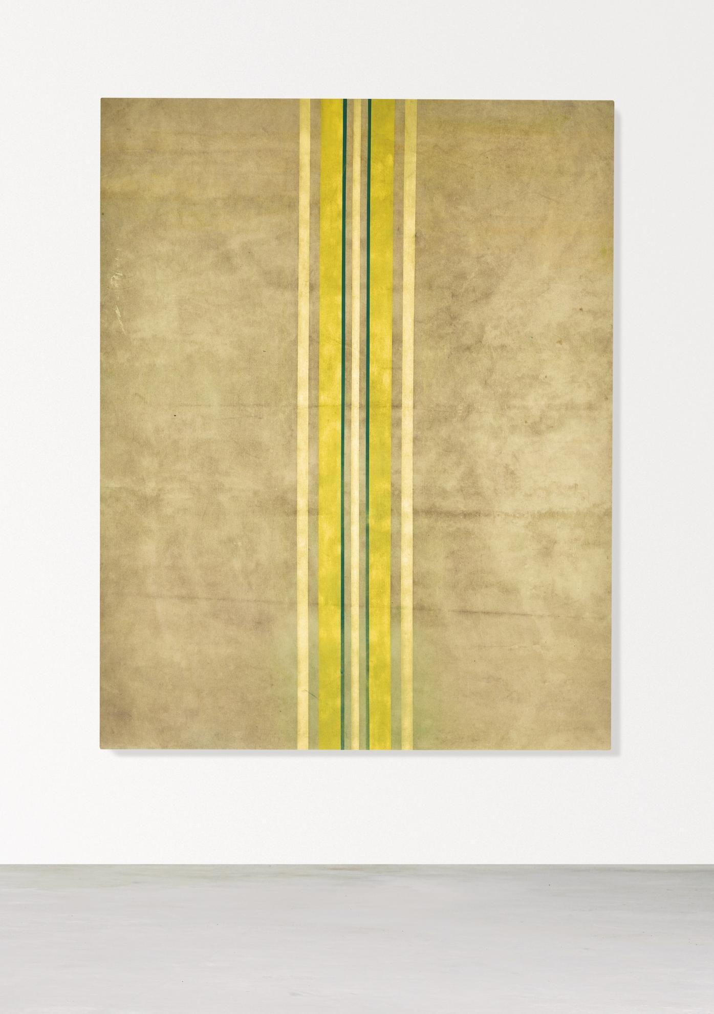 Fredrik Vaerslev-Untitled (Canopy Painting: Cream, Jade Green, Light Yellow And Yellow)-2012