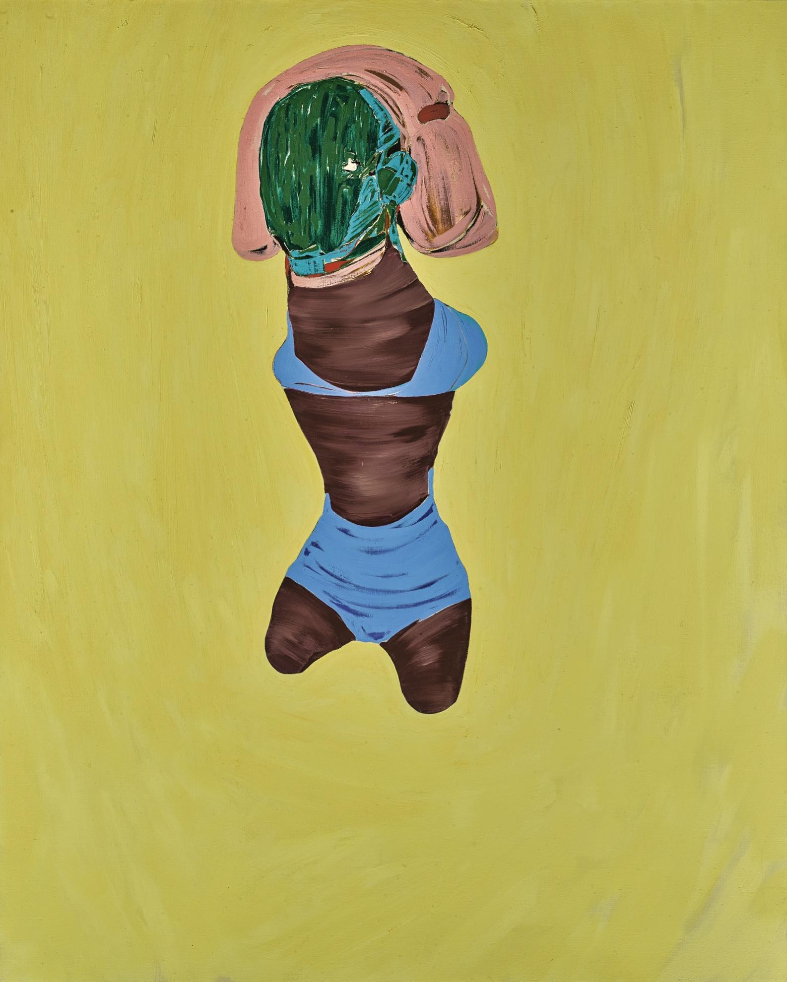 Nicola Tyson-Figure In Blue Bikini-2004