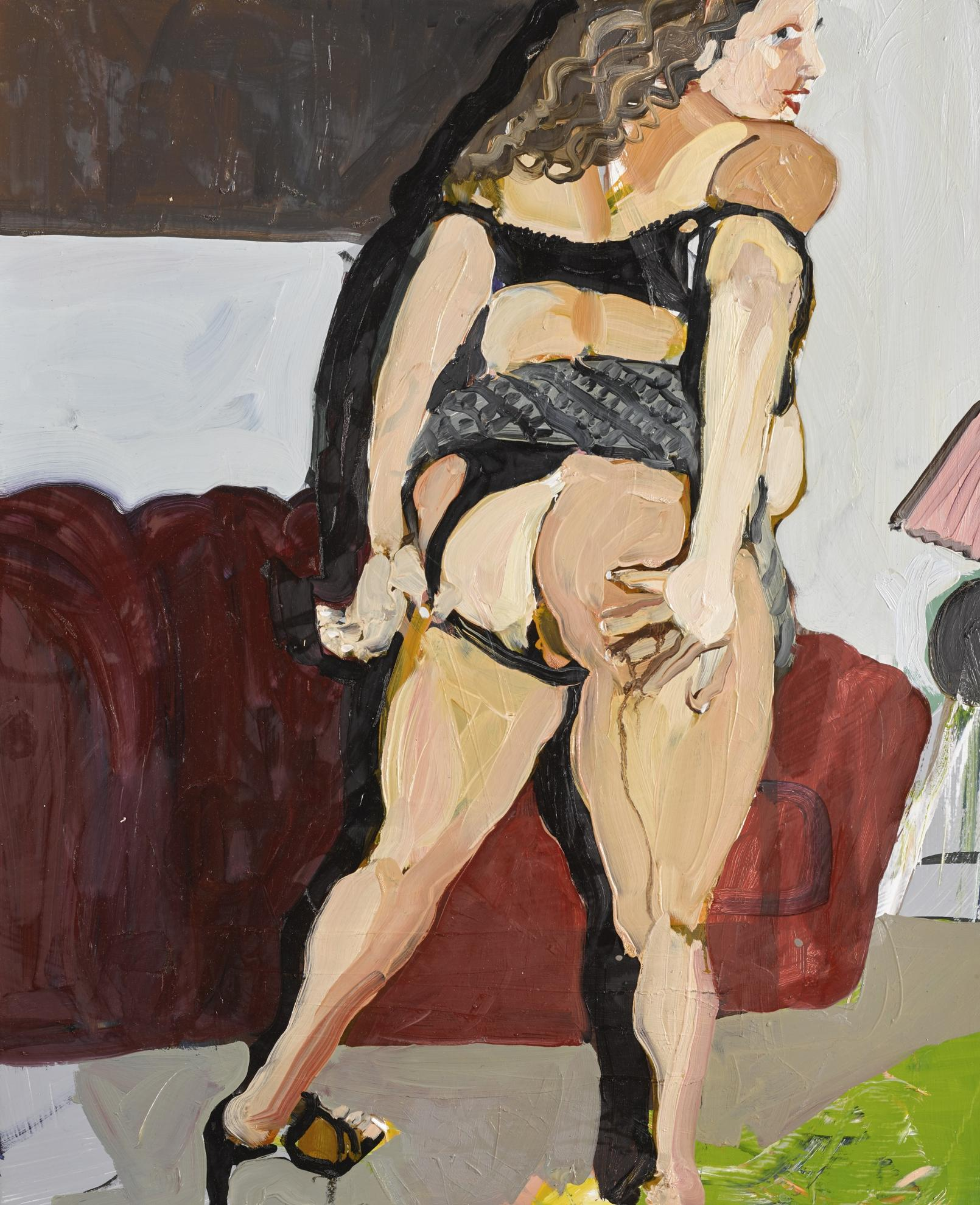 Chantal Joffe-Back View With Sofa-2003