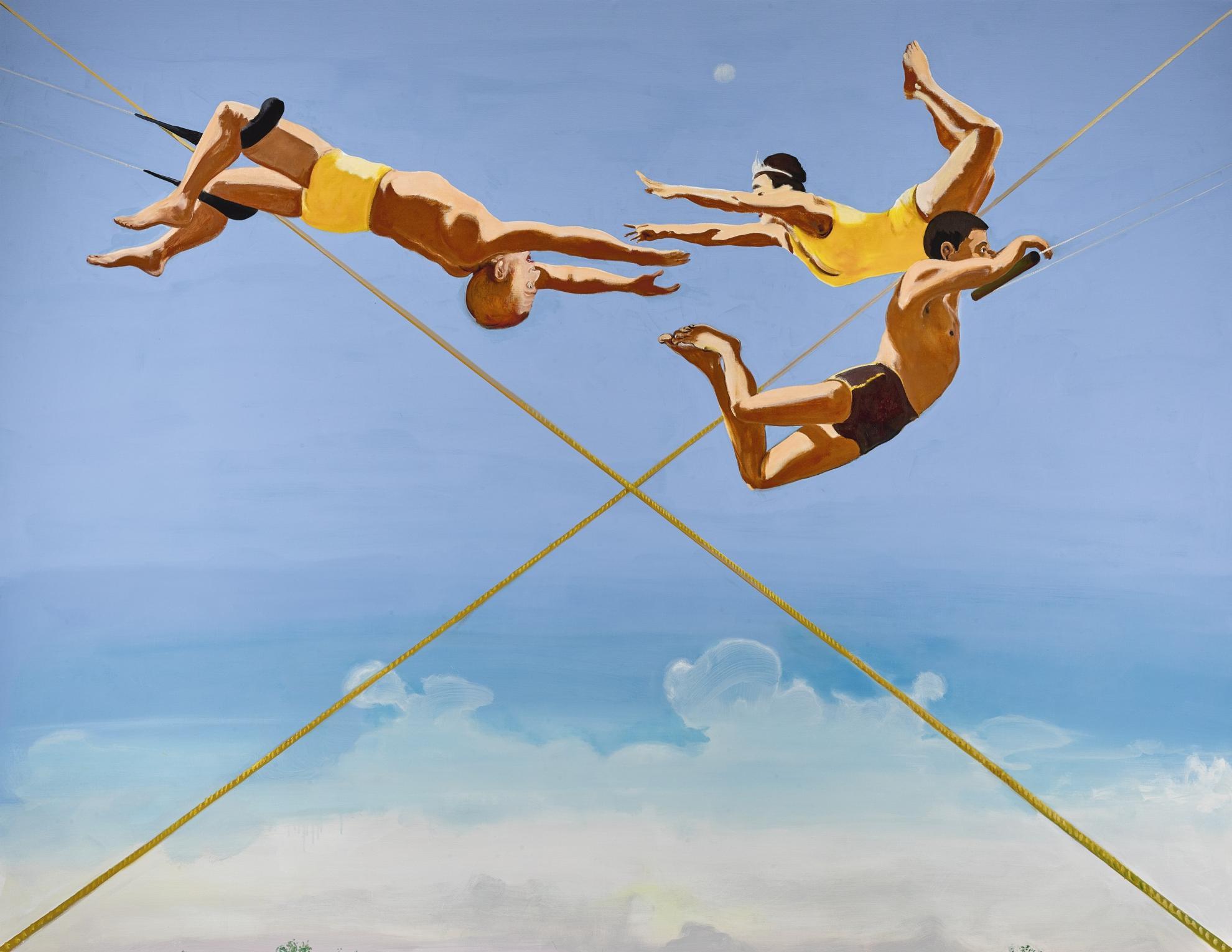 Verne Dawson-Three Aerialists-2004