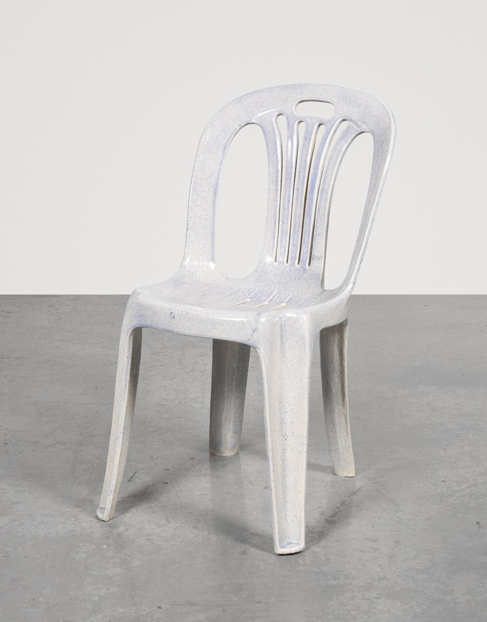 Sam Durant-Light Blue, Unique Mono-Block Resin Chair, Built At Jiao Zhi Studio, Xiamen, China, Produced By Ye Xing You With Craftspeople Xu Fu Fa And Chen Zhong Liang. Kang Youteng, Project Manger And Liason-2006