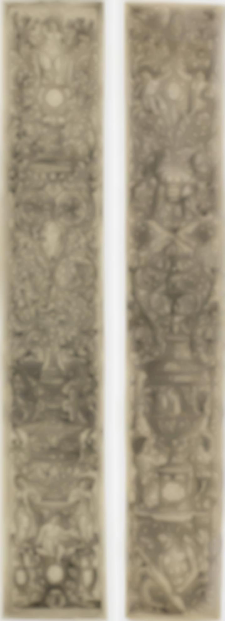 Zoan Andrea-Giovanni Pietro da Birago-Three Children Blowing Horns; A Triton And Two Infant Satyrs (Bartsch 28, 24)-1507