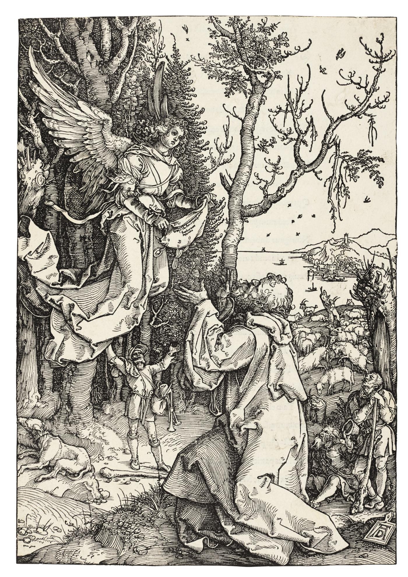 Albrecht Durer-Joachim And The Angel (B. 78; M., Holl. 190)-1504