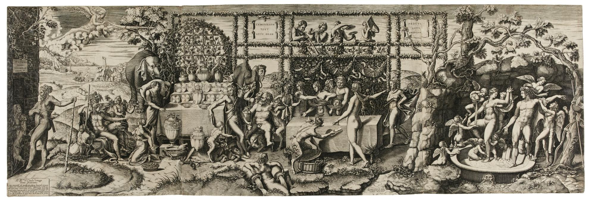 Diana Ghisi-Preparations For The Banquet For Cupid And Psyche, After Giulio Romano 1499 - 1546 (Bartsch 40)-1575