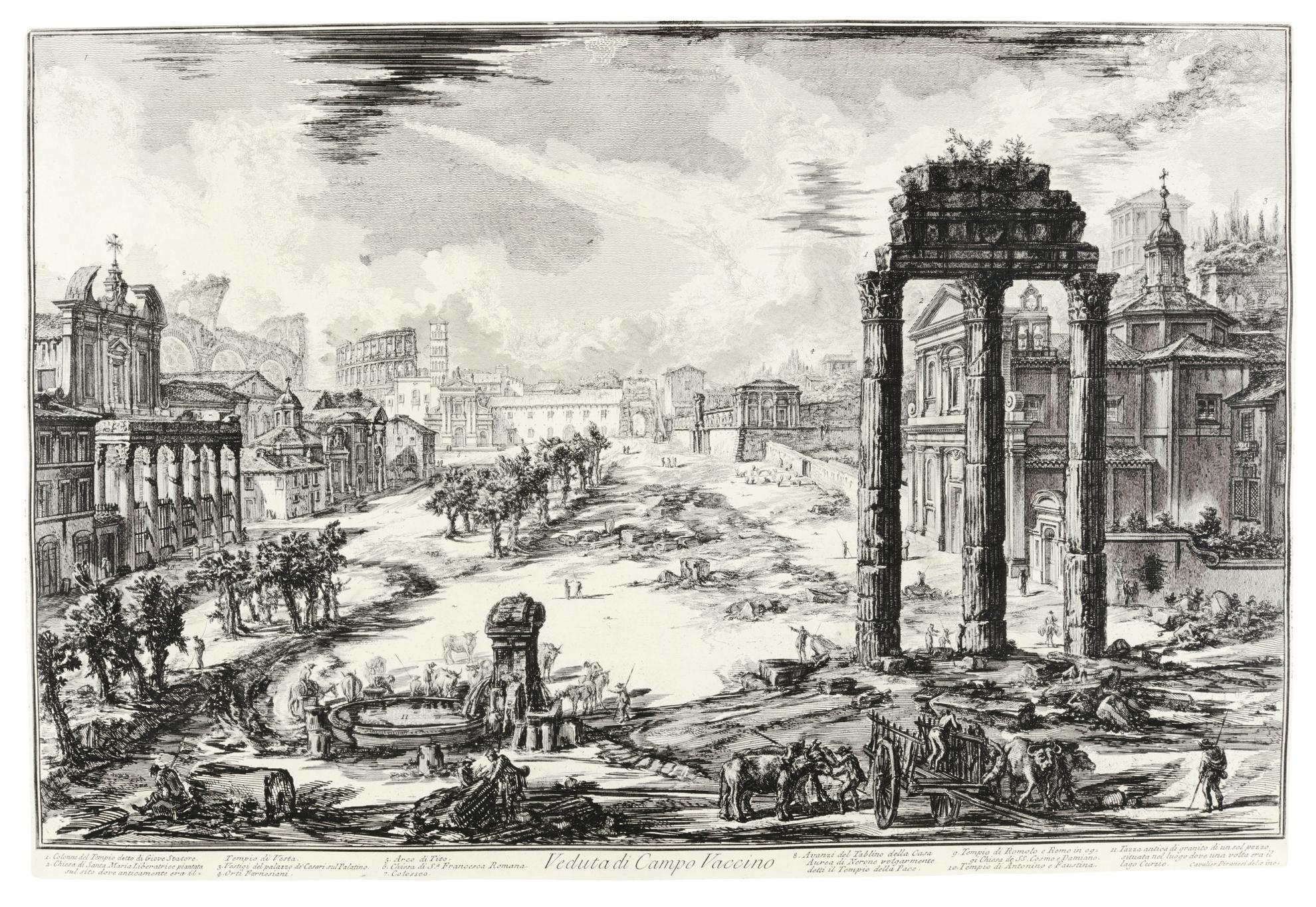Giovanni Battista Piranesi-Vedute Di Roma: Seventeen Plates (Hind 6, 12-13, 20, 22-24, 26, 30, 32-3, 36, 83, 85, 90, 100, 106)-1776