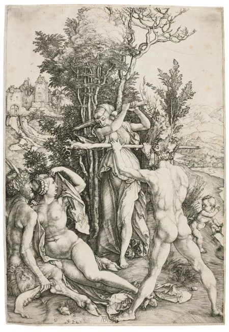 Albrecht Durer-Hercules, Or The Effects Of Jealousy (B. 73; M., Holl. 63)-1498