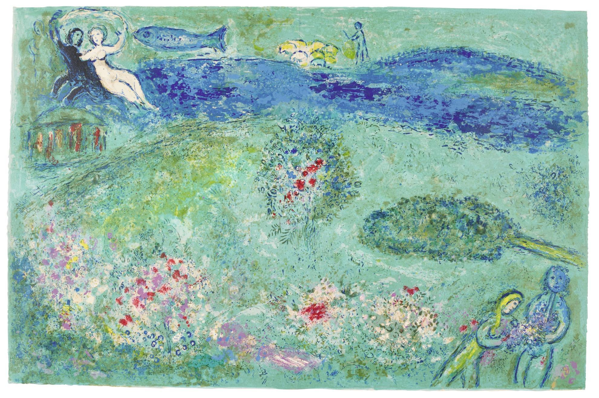 Marc Chagall-Le Verger (Mourlot 341; Cramer Books 46)-1961