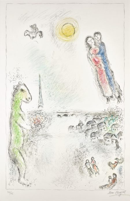 Marc Chagall-Les Deux Rives (M. 974)-1980