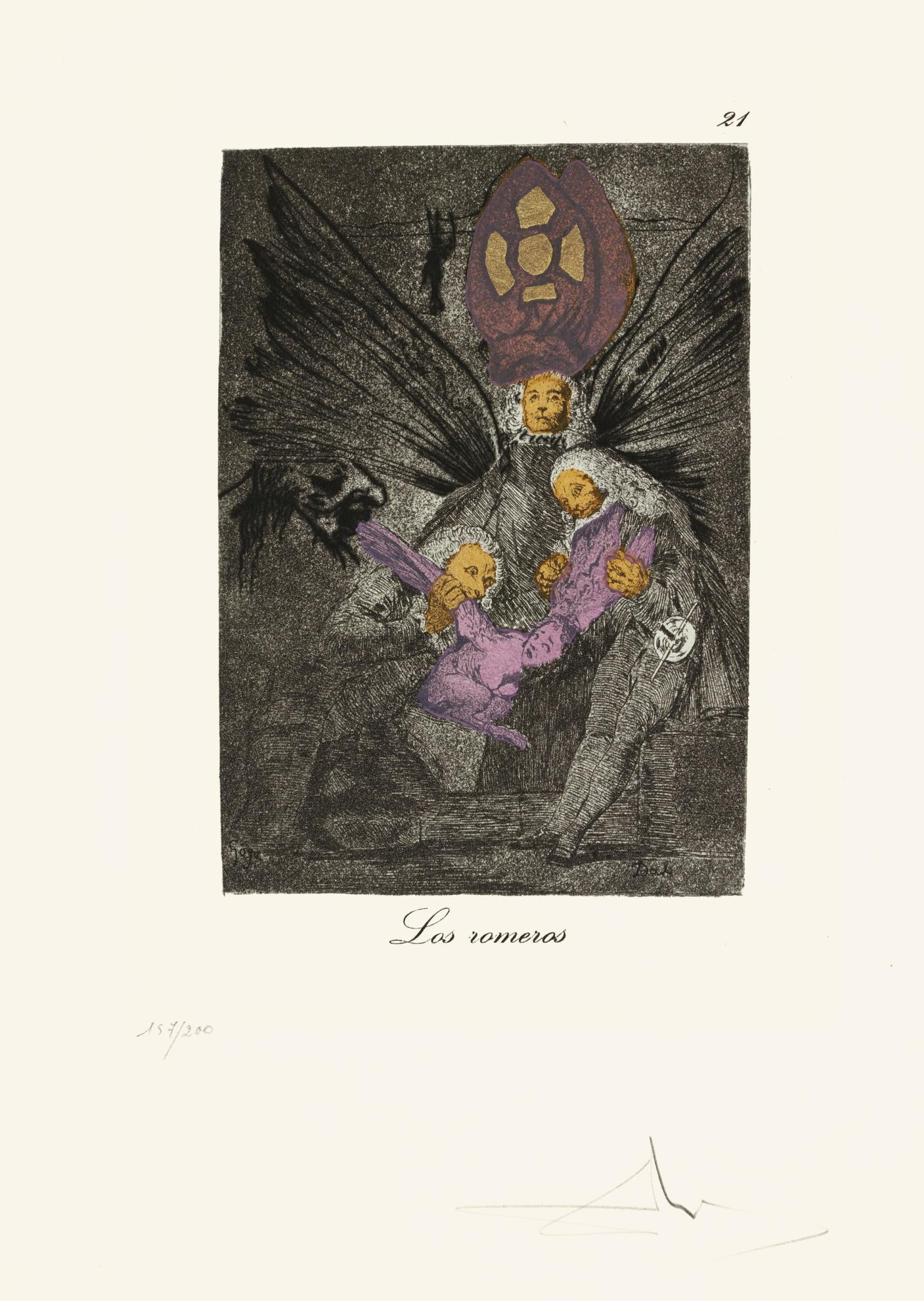 Salvador Dali-Les Caprices De Goya De Dali (Michler & Lopsinger 848-927; Field Page 111-116)-1977