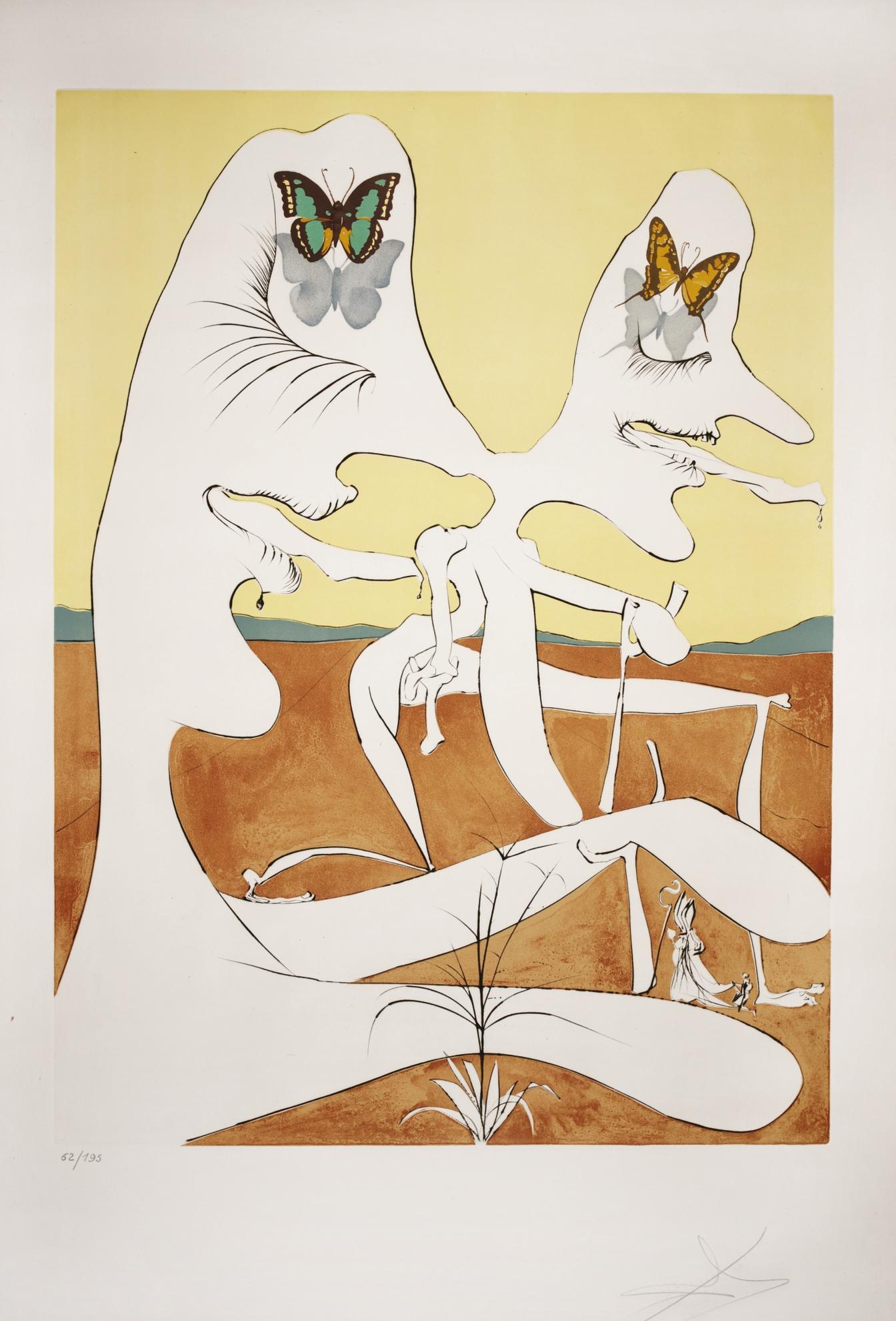 Salvador Dali-La Conquete Du Cosmos (M. & L. 641-652; F. Pp. 98-99)-1974