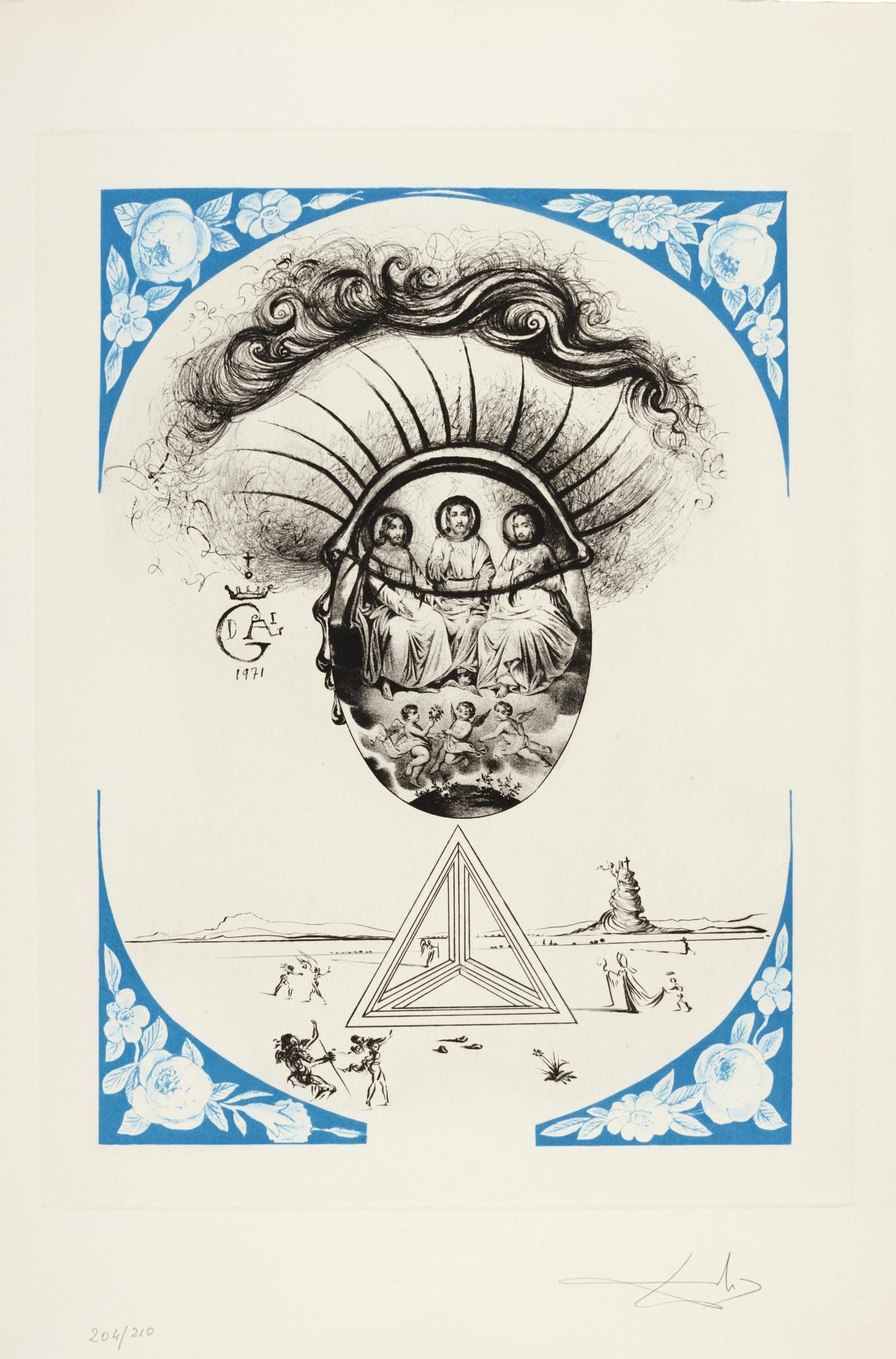 Salvador Dali-Dix Recettes Dimmortalite (M. & L. 567-577; F. Pp. 86-87)-1973