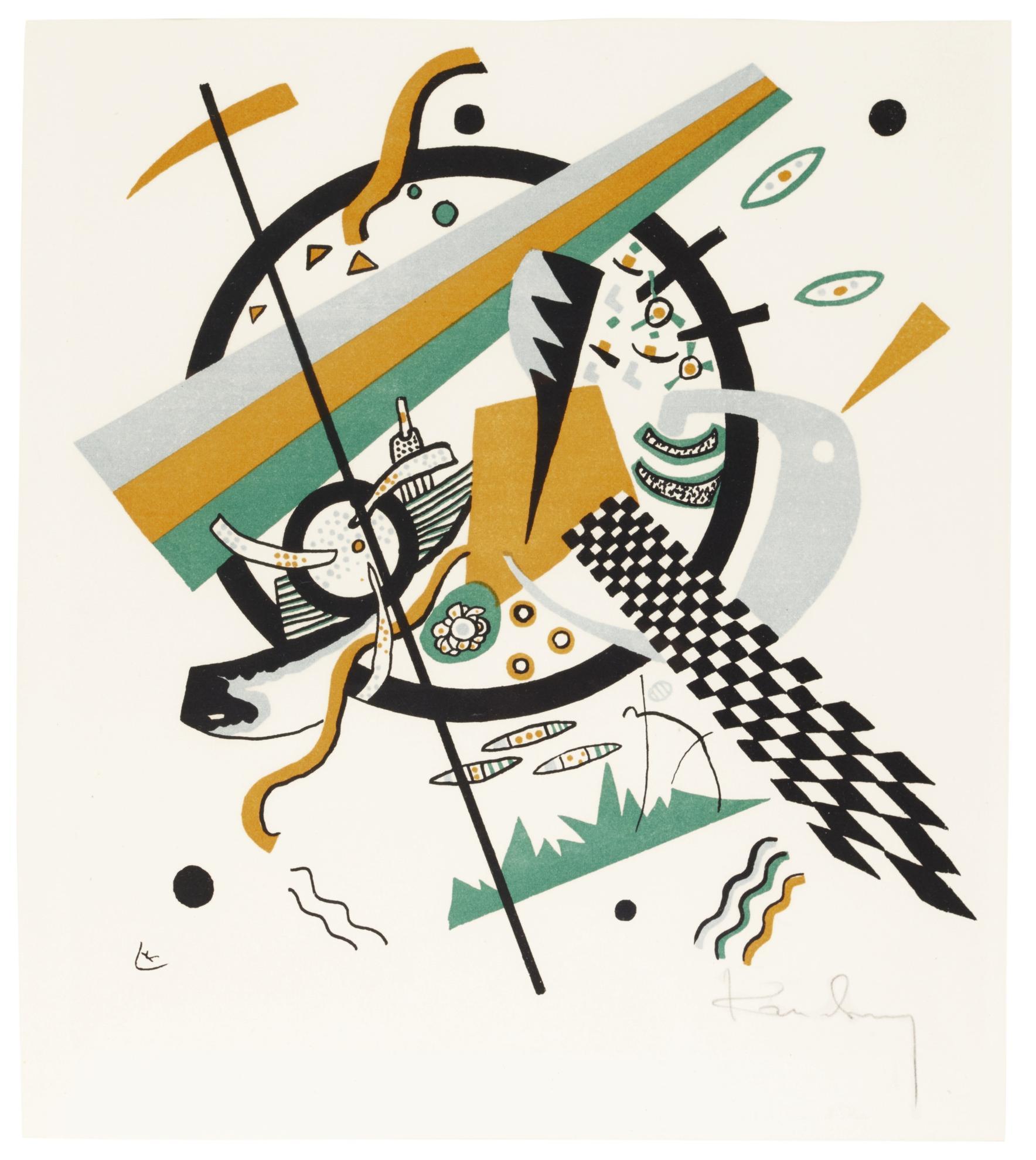 Wassily Kandinsky-Kleine Welten IV (Roethel 167)-1922