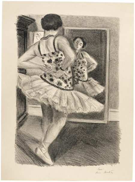 Henri Matisse-Danseuse Refletee Dans La Glace (Duthuit 490)-1927