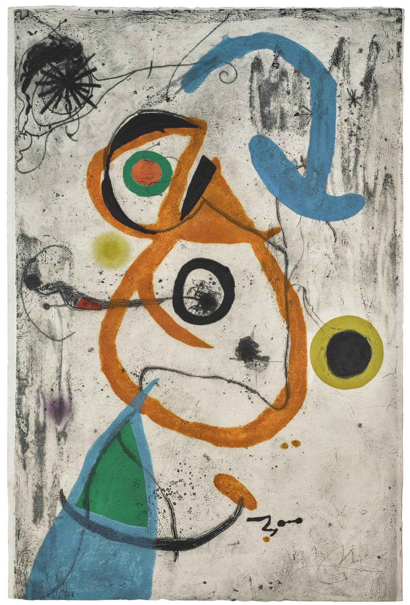 Joan Miro-Barcelona VIII (Dupin 600; Cramer Books 173)-1973