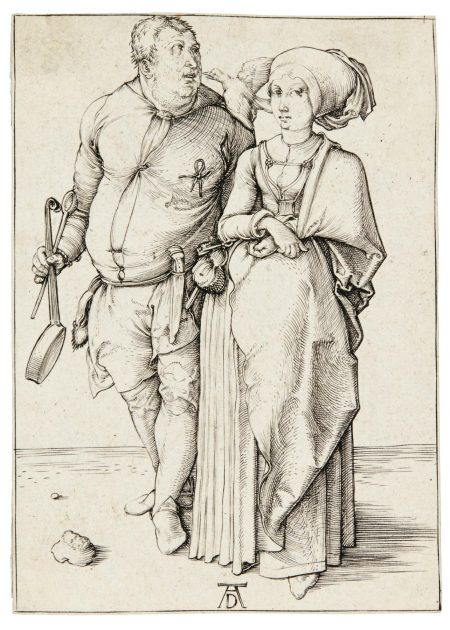 Albrecht Durer-The Cook And His Wife (B. 84; M., Holl. 85)-1496