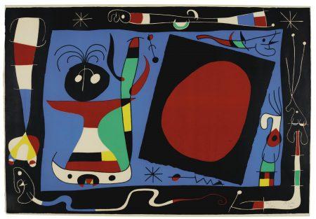 Joan Miro-La Femme Au Miroir (M. 242)-1957