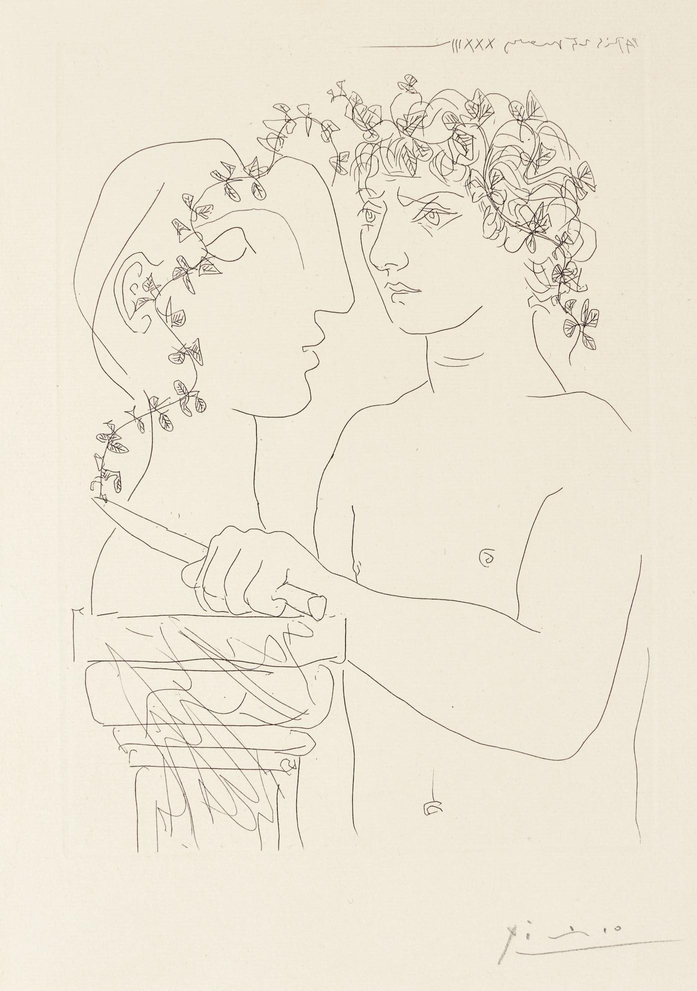 Pablo Picasso-Peintre Devant Son Tableau; And Jeune Sculpteur Au Travail (Bloch 92, 156; Baer 133, 309)-1933