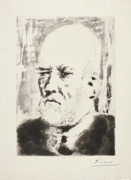 Pablo Picasso-Portrait De Vollard, II (B. 231; Ba. 618)-1937