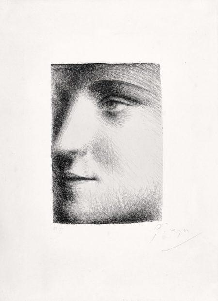 Pablo Picasso-Visage De Marie-Therese (B. 95; Ba. 243; M., Pp. XXIII)-1928