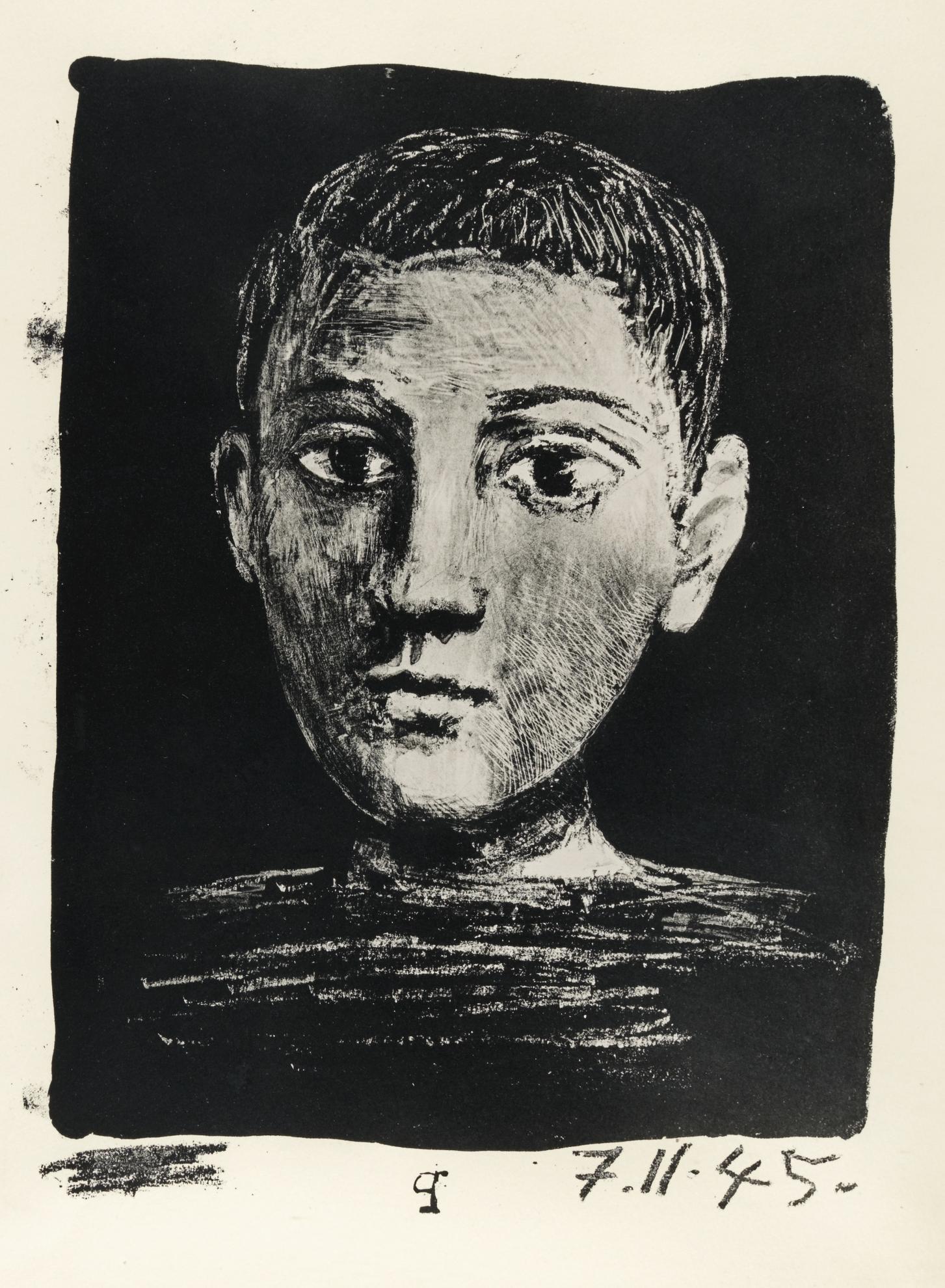 Pablo Picasso-Tete De Jeune Garcon (B. 378; M., Pp. 8)-1945