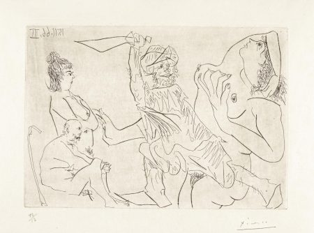Pablo Picasso-Untitled (B. 1466; C. 146)-1966