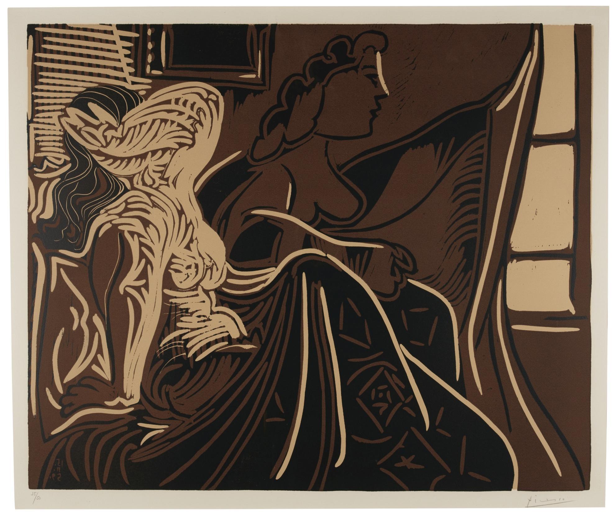 Pablo Picasso-Le Matin. Deux Femmes Au Reveil (B. 924; Ba. 1252; M., Pp. L-073)-1959