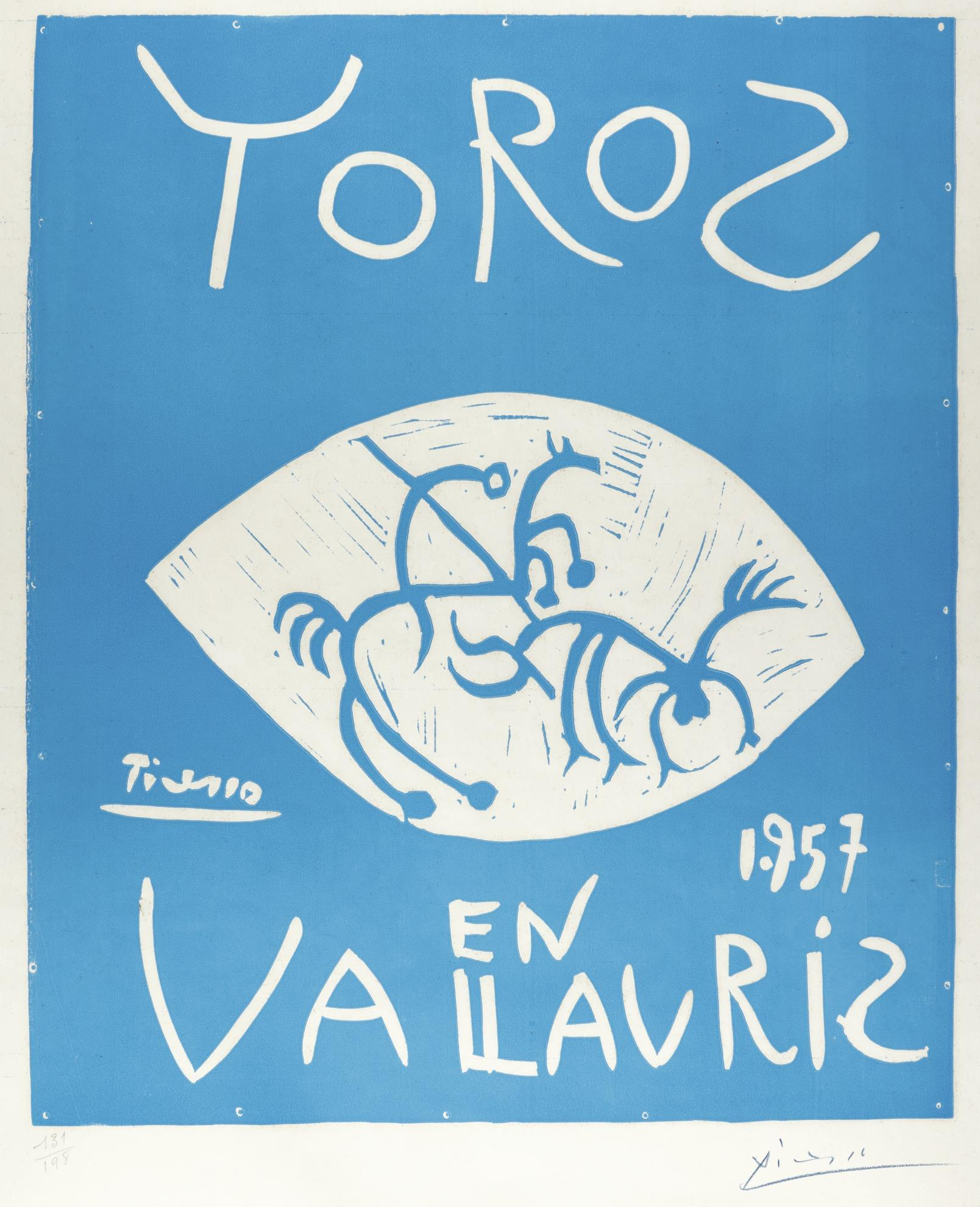 Pablo Picasso-Toros En Vallauris 1957 (B. 1276; Ba. 1045; Pp. L-024; Czwiklitzer 23)-1957