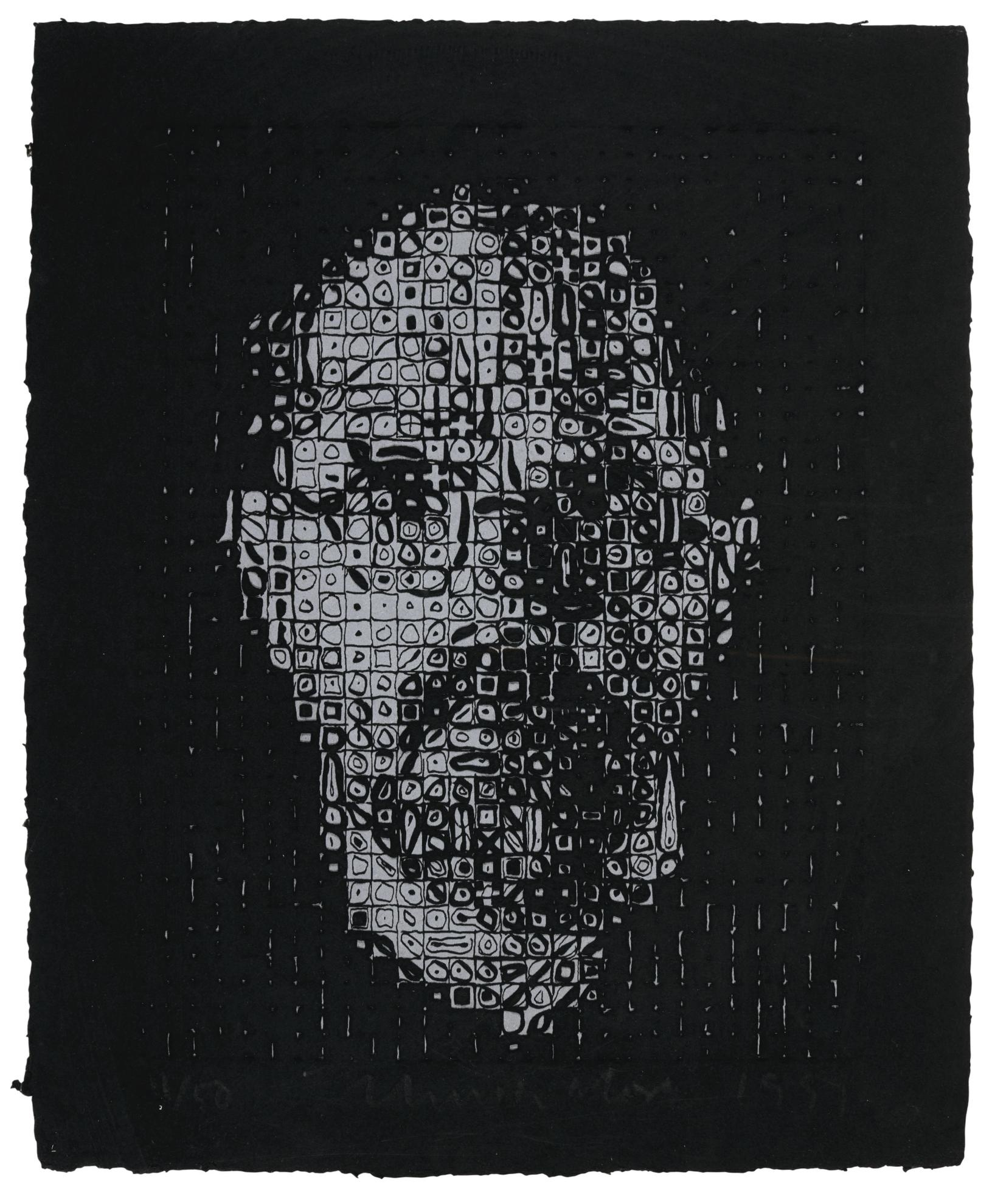 Chuck Close-Self-Portrait #1-1999