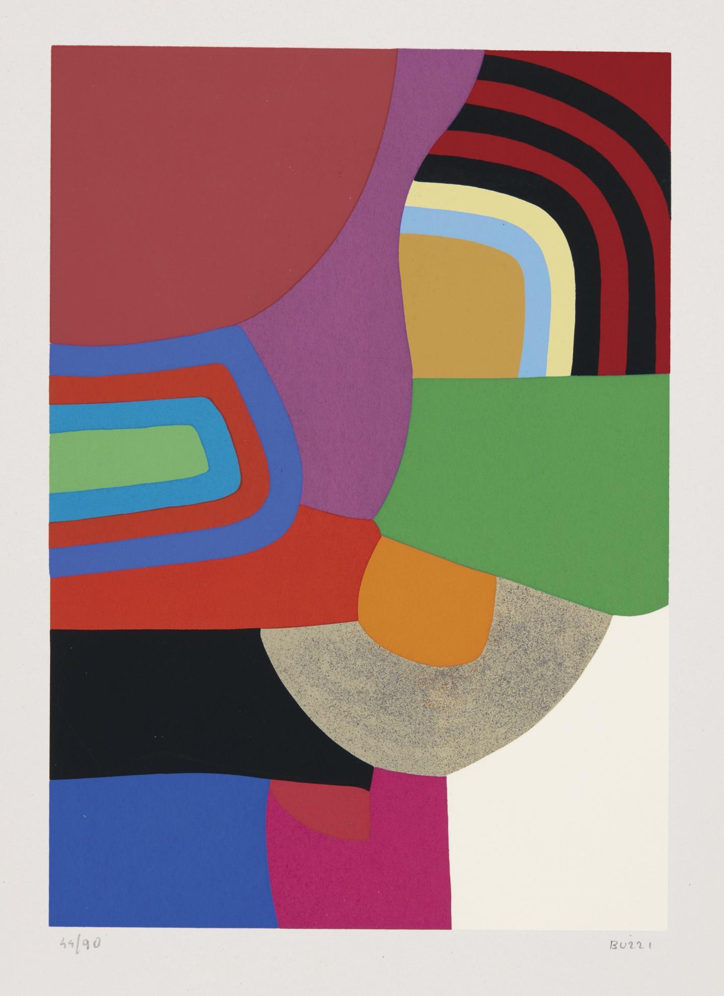Alberto Burri-Untitled (Calvesi 45-50)-1976