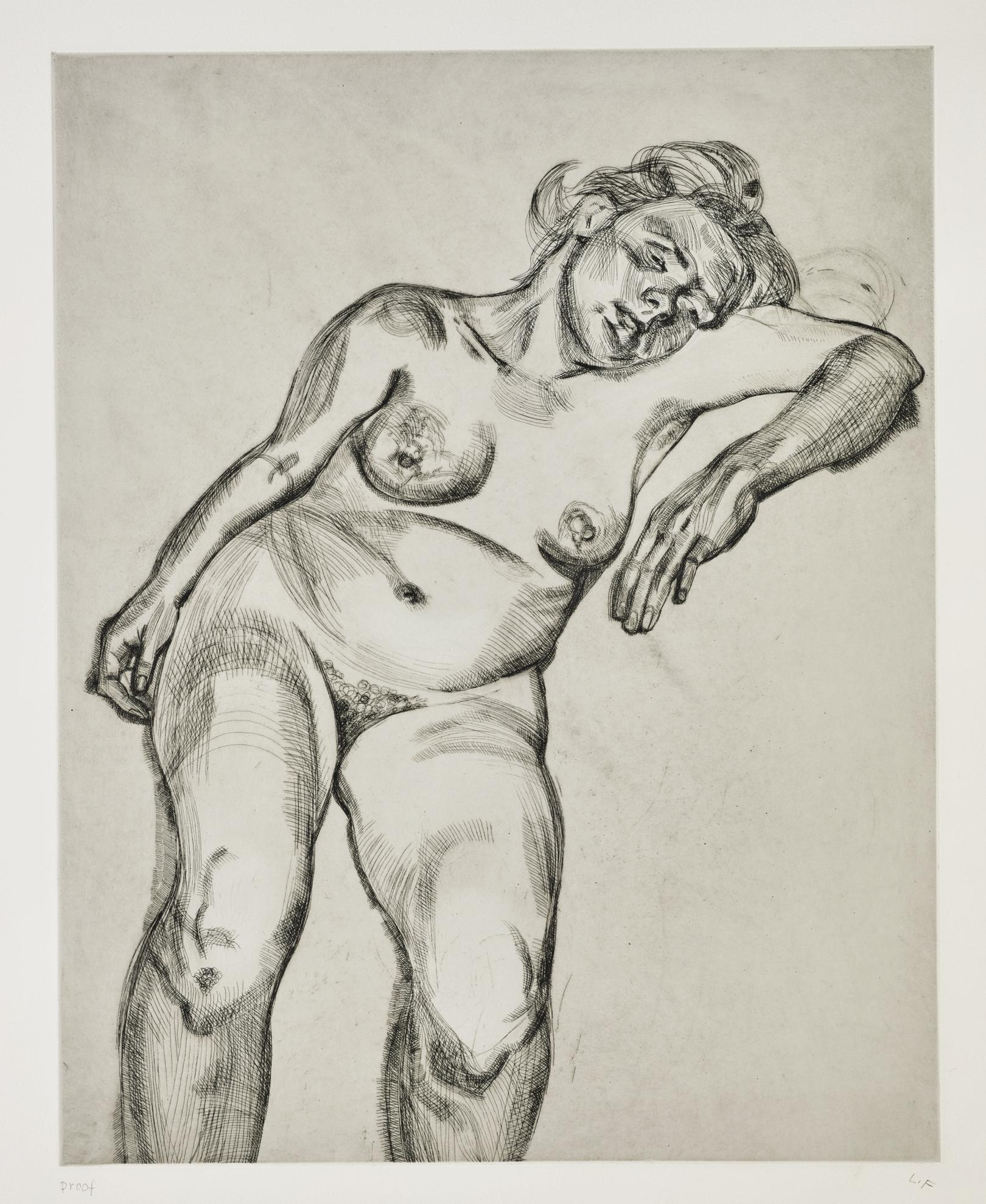 Lucian Freud-Blond Girl (Hartley 24; Figura 33)-1985