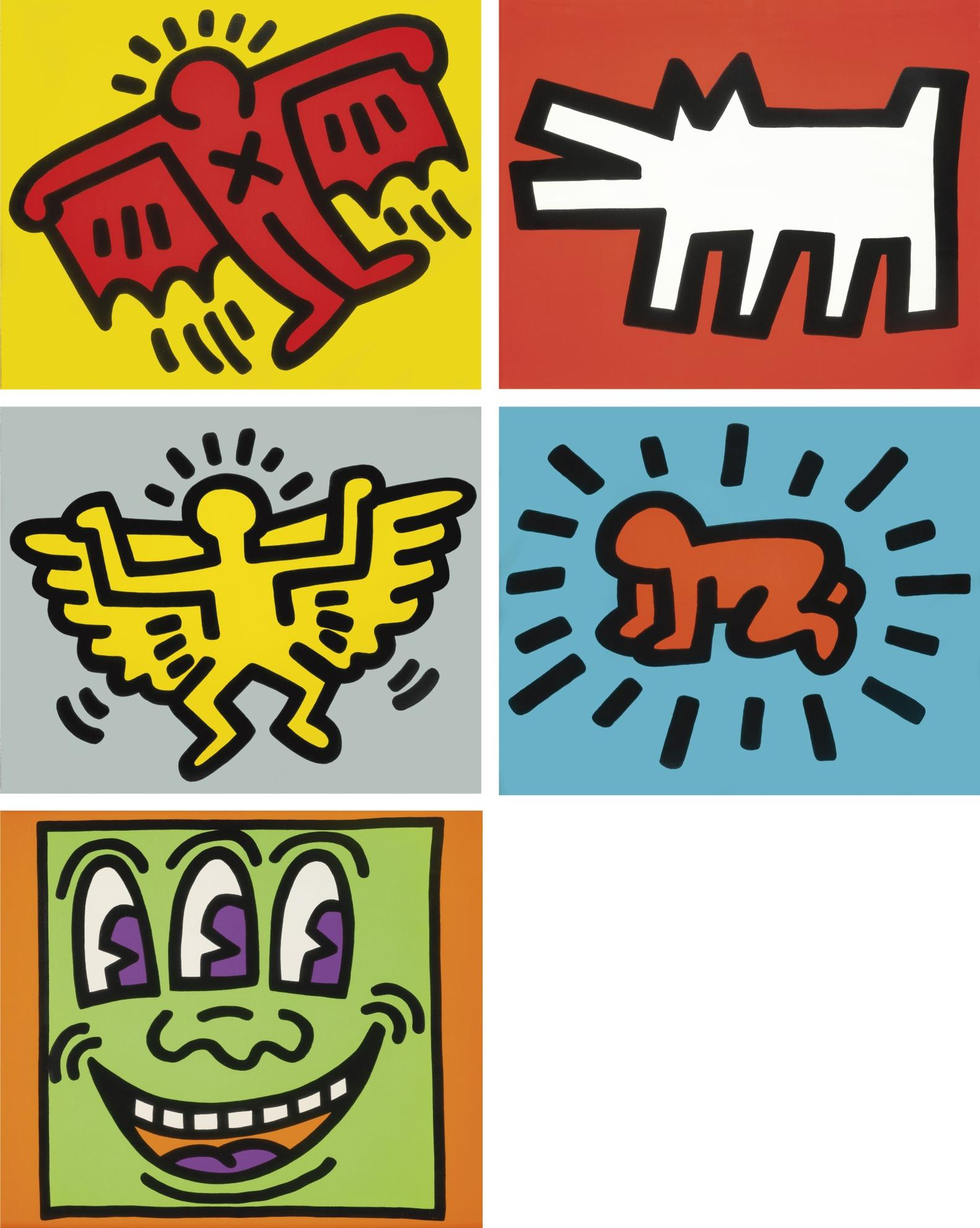 Keith Haring-Icons (L. Pp. 170-171)-1990