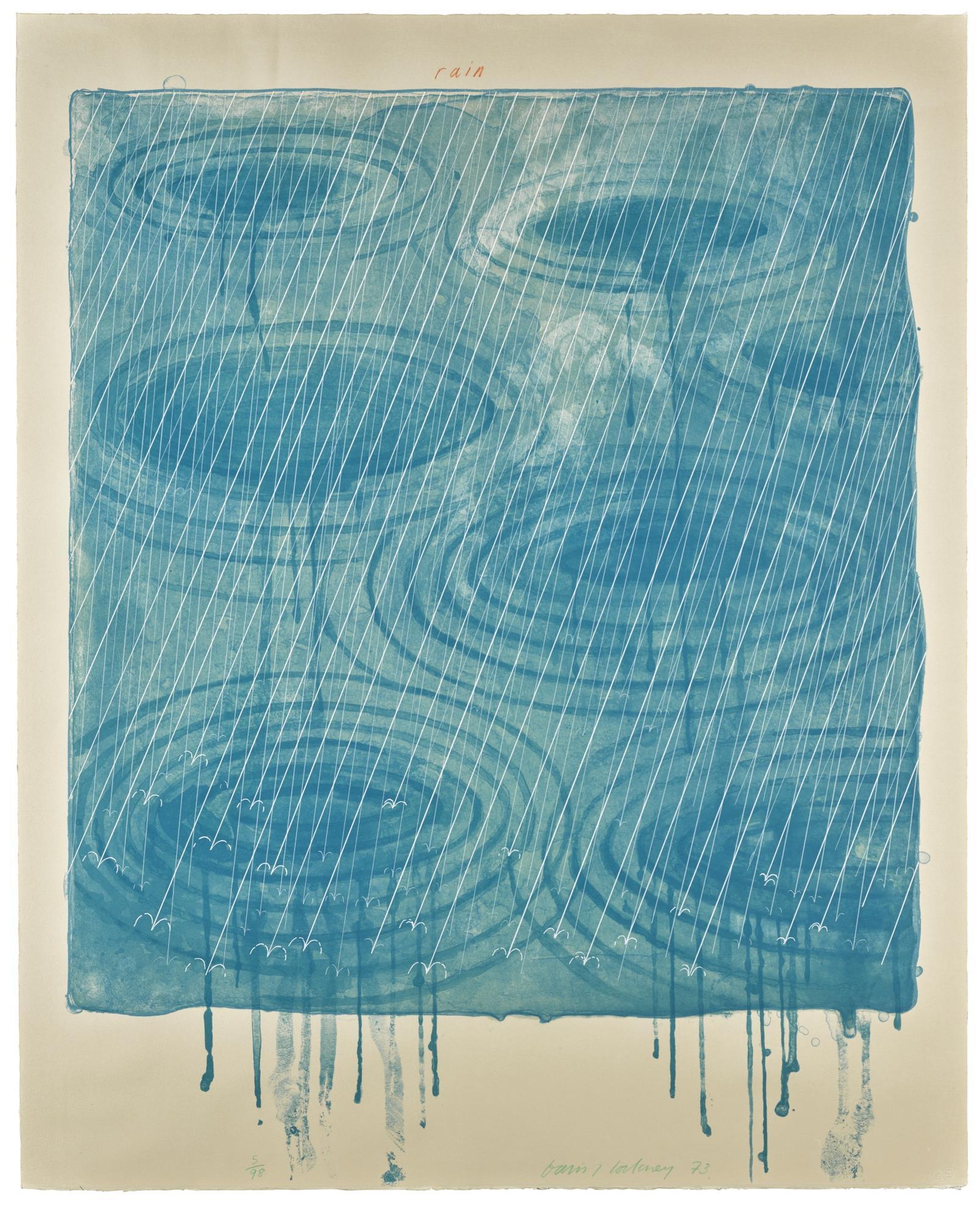 David Hockney-Rain (Scottish Arts Council 137; Museum Of Contemporary Art Tokyo 128)-1973