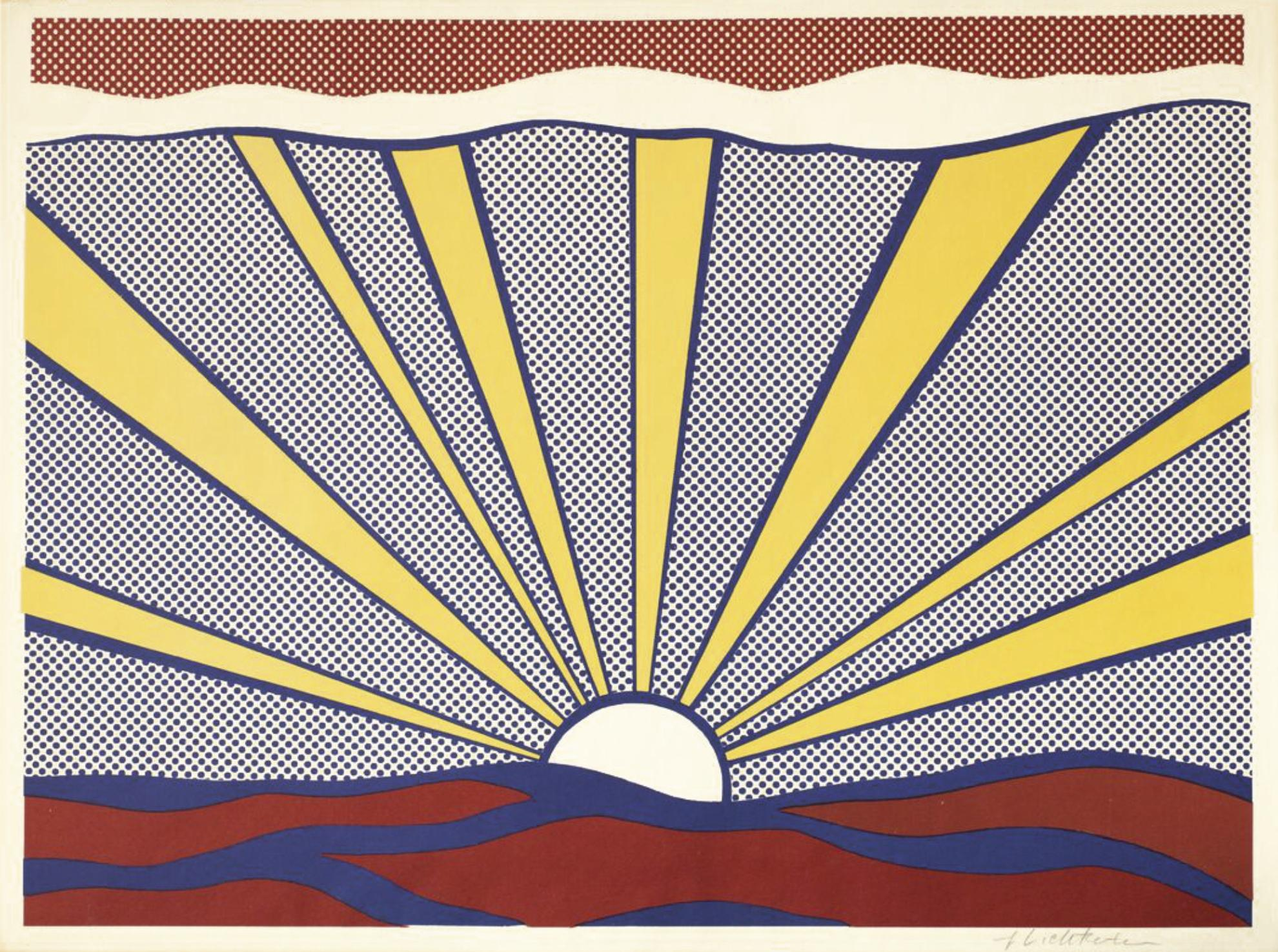 Roy Lichtenstein-Sunrise (C. II.7)-1965