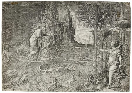 Giorgio Ghisi - Allegory Of Life (Bartsch 67; Lewis And Lewis 28)-1561