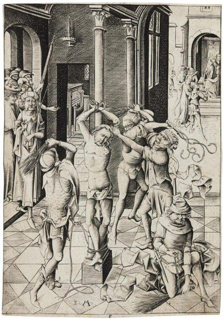 Israhel Van Meckenem - The Flagellation (G. 73; L., Holl. 145)-1485
